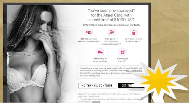 Get credit card offer from a store!