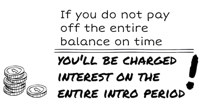 Pay your balance in full to avoid backdated interest