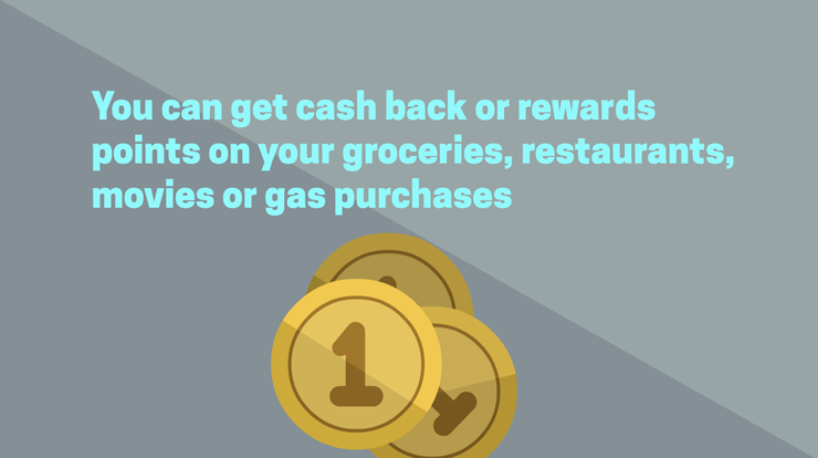 You can get cash back or rewards with student credit card